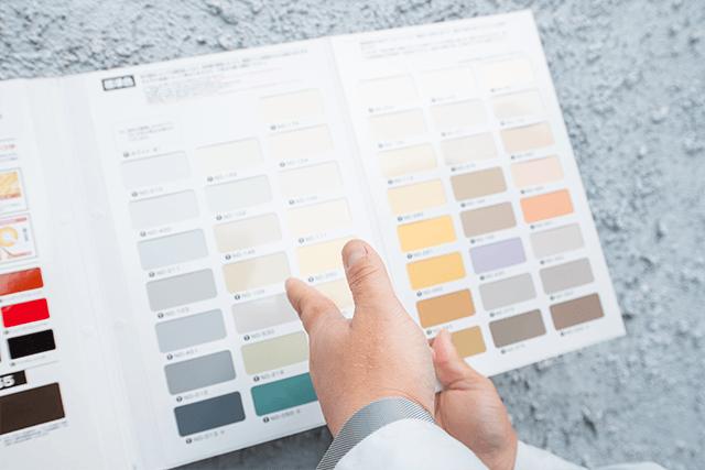 色決めと工程についての打ち合わせ
