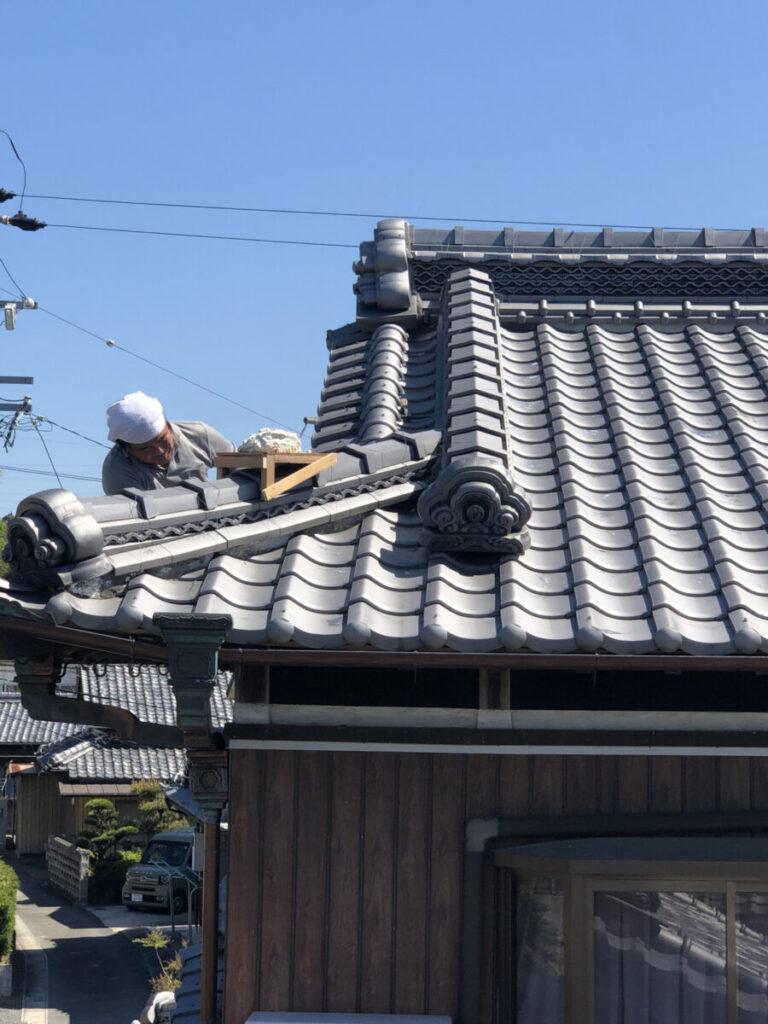 漆喰屋根工事②
