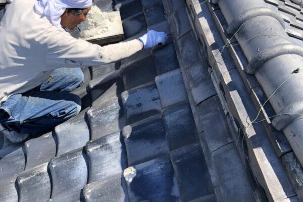 漆喰屋根工事①